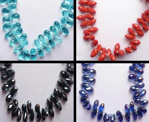 Diamond Cut Glass Beads