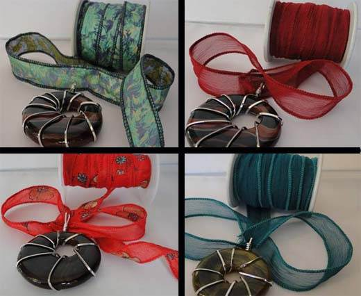Pure Hand Dyed Silk Ribbons - Plain Colours