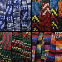 Flat Multicolour Fabric Cord - 10mm