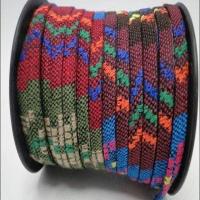 Flat Multicolour Fabric Cord - 5 mm