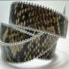 Cuir nappa véritable- cordes plates avec chaines cousues sur les cotés- 20mm