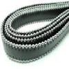 Cuir Nappa plat avec des chaines en acier - 14mm