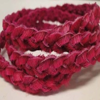 Hair - On  Leather - Round Braided Cords - 5 mm