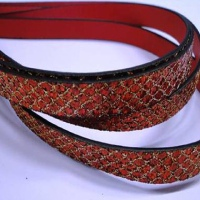 High Quality Eco Glitter Leather - 10mm