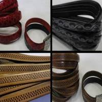 High quality leather with designs embossed