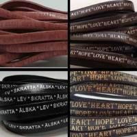 Hope Heart Love Embossed on Leathers