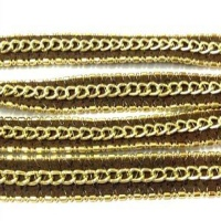 Leather with 3 chains - 10mm