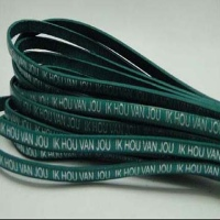 Leather with Dutch Text  Embossed - 5 mm