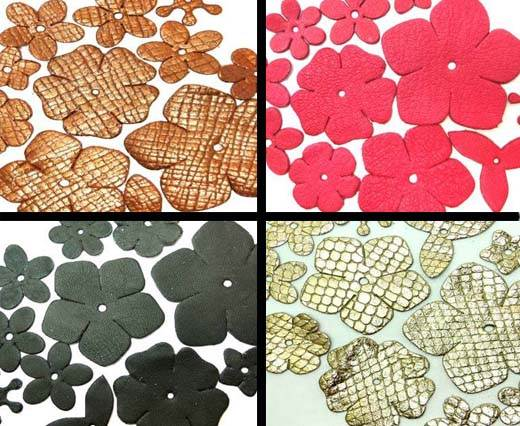 Mix Leather Flowers