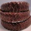 Cordons de cuir tressées ovales