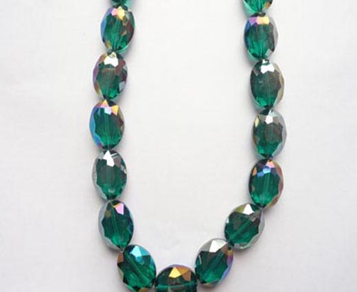 Oval Shape Glass Beads