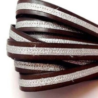 Real Italian Leather - Flat Laces with Glitter
