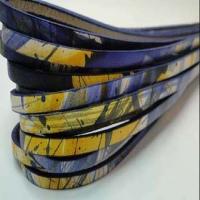 Real Italian Leather - Flat Multicolour Cords - 5 mm