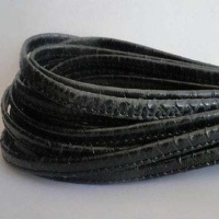 Real Nappa Leather - Flat Stitched Laces - 7 mm