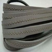 Real Nappa Leather Cords With One Stitch In The Middle
