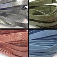 Real Suede Leather Flat Laces - 10 mm