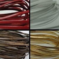 Lacets de cuir Nappa plat - 3mm