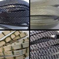 Real Nappa Leather Flat Laces - Snake and Animal Prints -10 mm