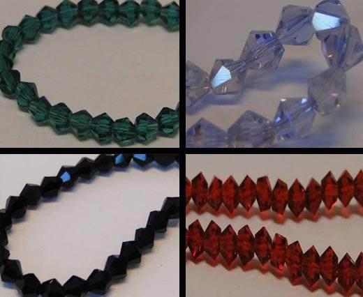 Sharp Glass Beads -4mm