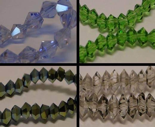 Sharp Glass Beads - 8mm