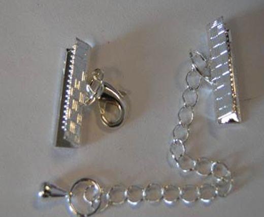 Silver plated parts for leather