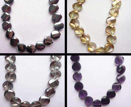 Spiral Shaped Glass Beads
