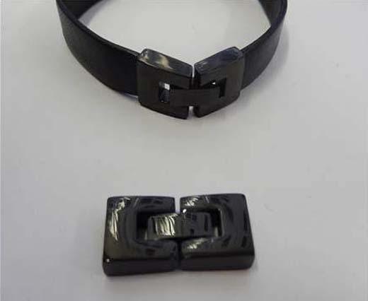 Stainless Steel Magnetic Locks - Black Finish