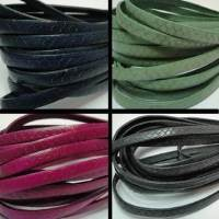 Real Suede Leather - Flat Laces with Glitter - 10 mm