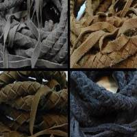 Suede Braided Belts with tassels