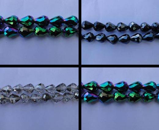 Water Glass Faceted Beads