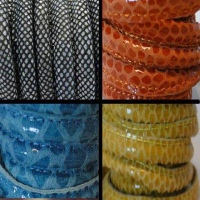 Leather Stitched - Reptile Prints