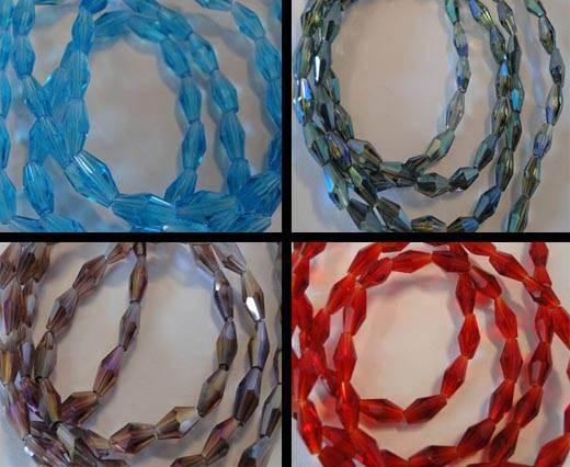 Cone Shape Glass Beads