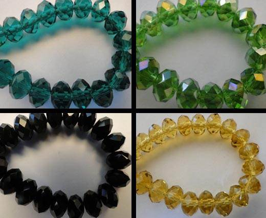Crystal round faceted - 18mm