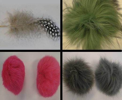 Fur And Feathers for Jewelry And Hats