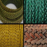 Flat Leather Cords in various sizes and styles