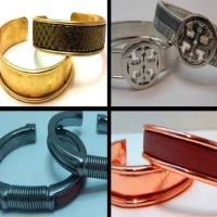 Metal Cuffs in Copper-Brass