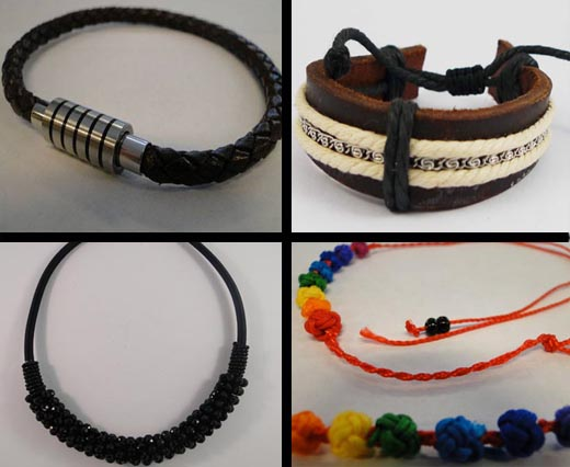 Designers Collection made from leather cords and locks-parts.