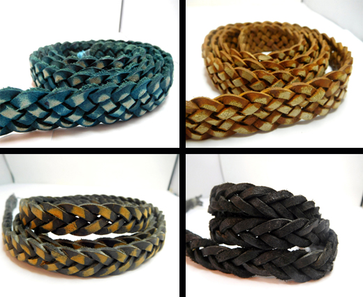 Real Nappa Leather Cords - Double Cut