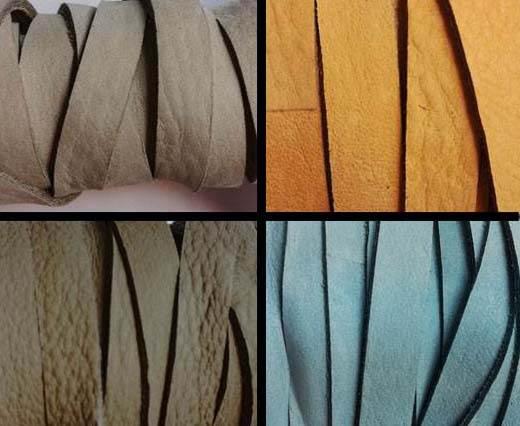 Nubuck Flat Leather cords -  5mm