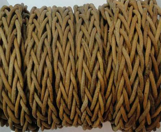 Plaited Round Leather cords -14mm