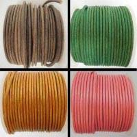 Round Leather Cords -  3mm