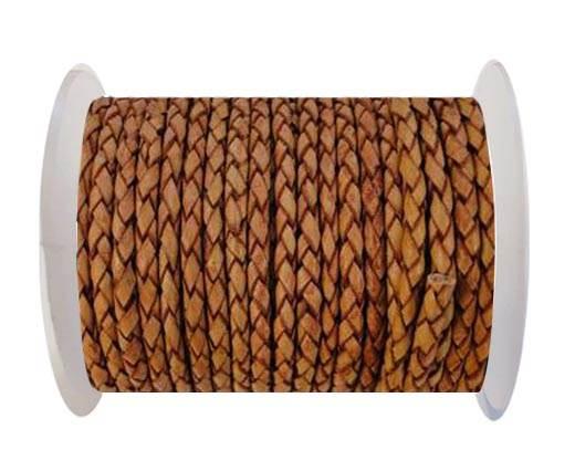Round Braided Leather Cord SE/PB/14-Mahogany - 4mm
