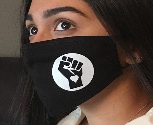 BLM-facemask-double layered