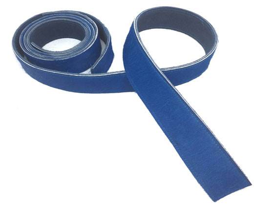 Hair-On Leather Belts-Blue