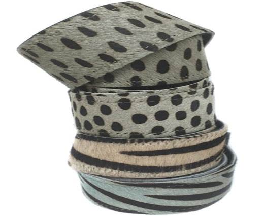 Hair-On Leather Belts-CHEETAH AND ZEBRA