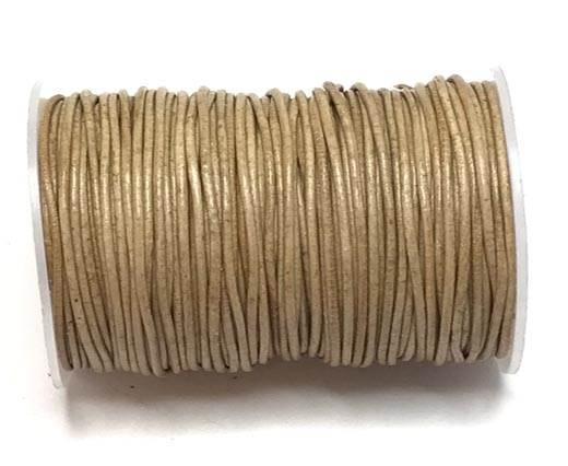 Round Leather Cord -0.5mm-  Dark Natural