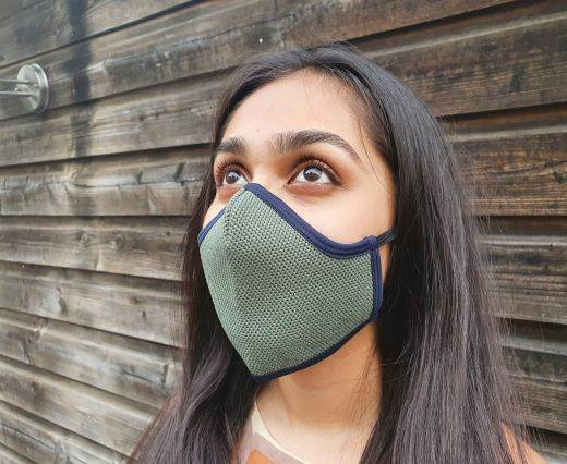 6 ply cotton washable masks - Grey