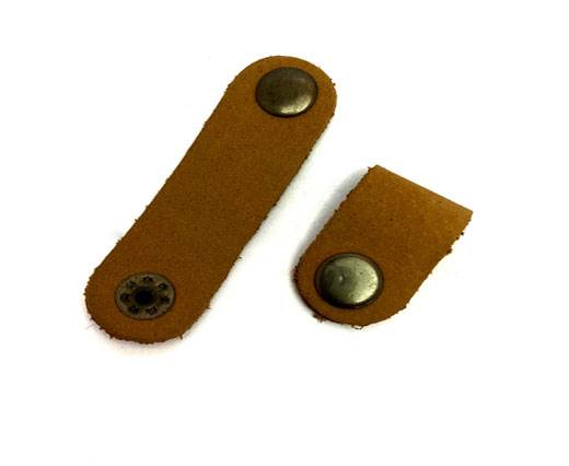 Leather Clip Style 1 Mustard 7cm