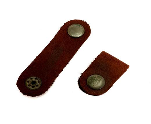 Leather Clip Style 1 Red Brown 7cm