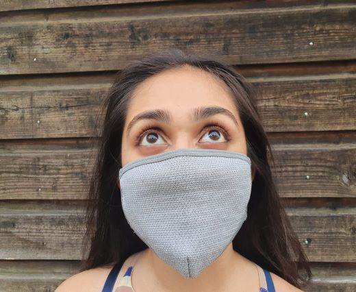 6 ply cotton washable masks - Light Grey